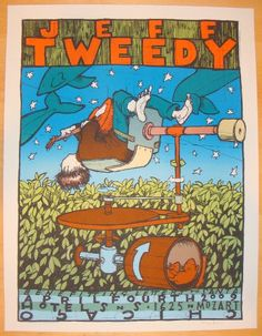 Jeff Tweedy - silkscreen concert poster (click image for more detail) Artist: Jay Ryan Venue: Hotel SnS Location: Chicago, IL Concert Date: 4/4/2009 Edition: 270; signed and numbered by the artist Siz