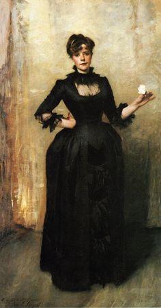 "John Singer Sargent, ""Louise Burckhardt (Lady with a Rose),"" 1882. Oil on Canvas. (My favorite Sargent portrait.)"