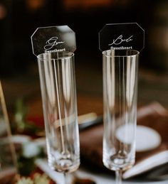 Acrylic wedding placecards  Check out these custom acrylic place cards! They are a fantastic way to add drama and make a classy statement for your day.   #weddings #acrylicplacenames #weddingplacecardss #weddingescortcard #seatingchart #weddingescortcards
