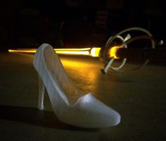 """"""" printed """"glass"""" slipper and sword (Cinderella/Prince Charming Cosplay) by LToyCreations Cinderella Prince, Cinderella And Prince Charming, Prop Making, Glass Slipper, Sword, Character Shoes, 3d Printing, Cosplay, Printed"""