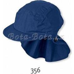 Sterntaler čepice s kšiltem UV filtr s ochranou plachetkou na krku modrá