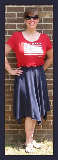 I like the hankerchief skirt.  Wouldnt make one for me, but my daughter.
