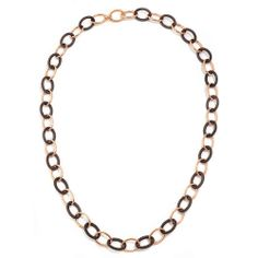 Pesavento Polvere di Sogni Pink Sterling Silver & Bronze Dust Link Necklace