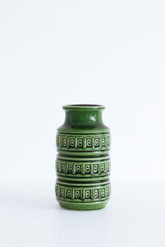 Green West Germany vase  www.entermyattic.com