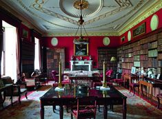 Regency House, English House, Grand Homes, Classic Interior, Living Room Interior, Country Life, Libraries, Reading Lamps, Sitting Rooms