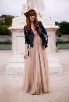 Greek Pink Chiffon One Shoulder Maxi Dress >> Love this dress!