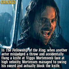 Viggo is an actual superhero. | Iconic Movie Scenes That Happened By Accident | Cracked.com