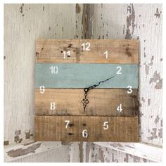 Reclaimed Pallet Wood Wall Clock by Field Treasure Designs contemporary clocks