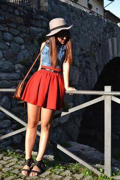 Zara skirt - Stradivarius shirt - vintage bag - vintage belt