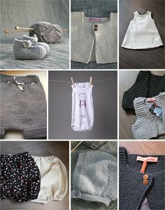 hand knitted baby clothes- mom this will keep you busy for the next Love me some diaper covers/bloomers! Knitting For Kids, Baby Knitting Patterns, Hand Knitting, Knitted Baby Clothes, Baby Knits, Diy Bebe, Baby Pullover, Baby Sweaters, Baby Wearing
