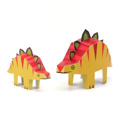 Maxi Stegosaurs Paper Toys  DIY Paper Craft Kit  3D by pukaca