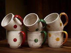 Hrnčeky-bodkáče by artorius - SAShE.sk - Handmade Keramika