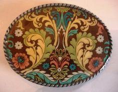 Jada Belt Buckle  Cha Cha Oval Wearable Art by MnMTreasures, $20.00
