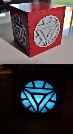 Iron Man Arc Reactor Light Box