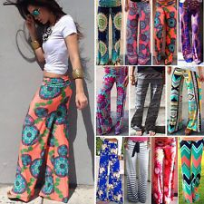 Women Harem Long Pants Hippie Wide Leg Gypsy Yoga Dance Boho Palazzo Trousers US Yoga Trousers, Palazzo Trousers, Trousers Women, Pants For Women, Clothes For Women, Gypsy Pants, Square Pants, Pantalon Large, Wide Leg Denim