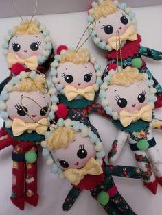 Elf Bunka Doll Pose Doll Christmas by CottonCandyWorkshop on Etsy, $13.00