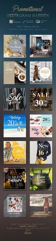 14 Instagram Banner Templates - Social Media Web Element Template PSD. Download here: http://graphicriver.net/item/14-instagram-banner-templates/16435403?ref=yinkira