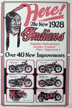 vinTage indian bike ads - Google zoeken
