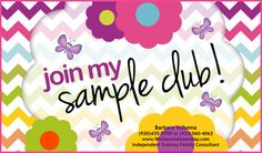Join My Scentsy Sample Club