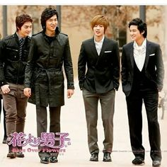 his 4 boys .are created lot love in heart for korean kdrama.😘😘😘 Love u boys ever and ever.😊😊😊 Can u guess which drama is Korean Drama Funny, Korean Drama Movies, Korean Actors, Korean Dramas, F4 Boys Over Flowers, Boys Before Flowers, Los F4, Kim Bum, Hallyu Star