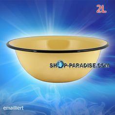 SHOP-PARADISE.COM:  Schüssel 2,0 L emailliert D-24cm H-8cm 7,55 €