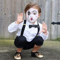 .So cute .. Mime costume                                                                                                                                                                                 More