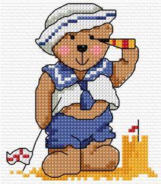 Lesley Teare - Teddy cross stitch
