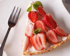 Tarte aux fraises et à la ricotta sans cuisson : http://www.fourchette-et-bikini.fr/recettes/recettes-minceur/tarte-aux-fraises-et-a-la-ricotta-sans-cuisson.html
