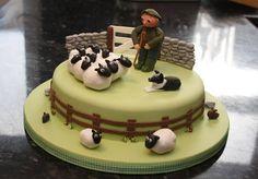 Border Collie Birthday Cake