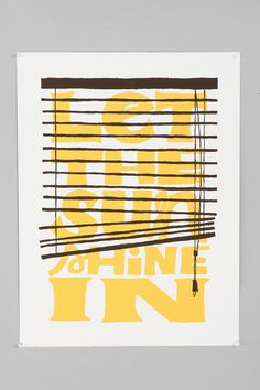 \Let The Sun Shine In - Wall Print