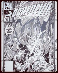 The cover to Daredevil # 260 by John Romita Jr and Al Williamson.