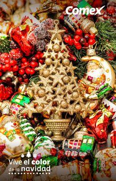 En esta navidad utiliza elementos llenos de color y vitalidad. #ViveElColorDeLaNavidad #Comex #Christmas #Deco #Home