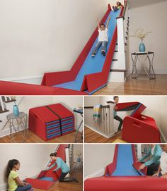 folding stair slide … - New Deko Sites Room Decor Bedroom, Kids Bedroom, Room Interior, Interior Design Living Room, Stair Slide, Cool Kids Rooms, House Stairs, Kids Room Design, Kid Spaces