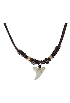 Real Shark Tooth Necklace- Shark Necklace – Handmade with Real Shark Tooth – Hawaiian Necklace