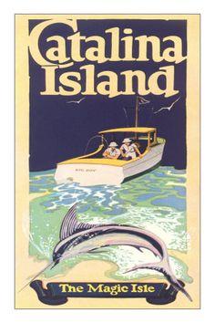 Catalina Island California  vintage poster