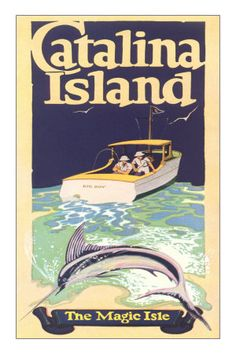 Catalina Island California  vintage poster