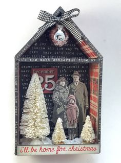 A personal favorite from my Etsy shop https://www.etsy.com/listing/561430902/ill-be-home-for-christmas-shadowbox