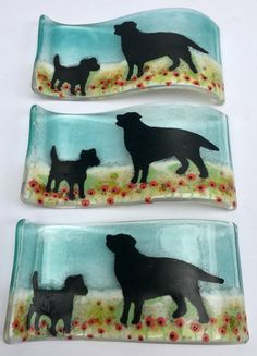 Dog Lover Gifts, Dog Gifts, Dog Lovers, Medium Waves, Glass Fusing Projects, Glass Animals, 7 And 7, Dog Art, Artsy Fartsy