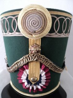 Replica of French Empire Shako Rouleau of Colonel Marbot Hussars Waterloo 1815 Waterloo 1815, Battle Of Waterloo, French Royalty, Military Cap, French Revolution, Napoleonic Wars, Toy Soldiers, Headdress, Fancy