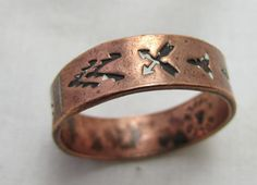 Copper ring copper band Bell Solid Copper by TreasureTrovebyTish, $10.00