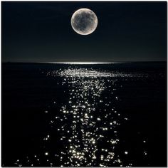 Full moon shine on the water