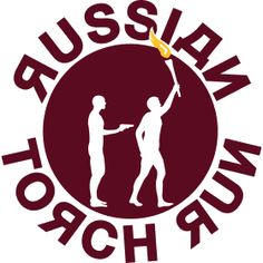 Russischer Fackellauf - Ein Russischer Fackellauf passend zum umstrittenen Wintersportevent des Jahres. Ein Fackell�ufer der von einem Mann mit einer Pistole bedroht wird.