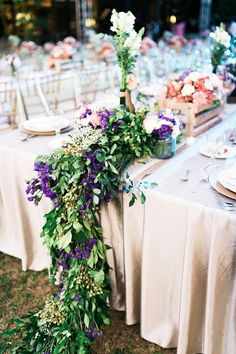 Miguel and Judy Angelfields Wedding Rustic Garden Wedding, Rustic Gardens, Wedding Blog, Wedding Reception, Reception Ideas, Royalty, Table Decorations, Purple, Party