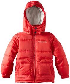 Amazon.com: Calvin Klein Little Boys' Bubble Jacket: Down Alternative Outerwear Coats: Clothing