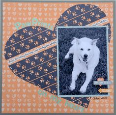 Fur Buddies Scrapbook Layout using the Paw Print Border Maker Cartridge Dog Scrapbook Layouts, Scrapbook Borders, Scrapbook Templates, Scrapbook Journal, Baby Scrapbook, Scrapbook Paper Crafts, Scrapbook Cards, Scrapbooking Ideas, Box Photo