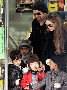 Jolie-Pitt Family Brad Pitt and Angelina Jolie
