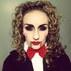 Jigsaw Halloween Makeup Costume