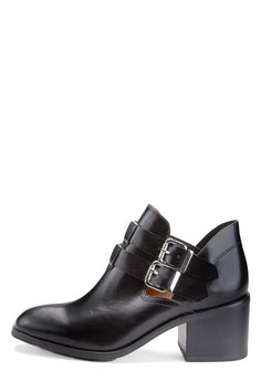 Jeffrey Campbell Shoes VITO Booties in Black Box