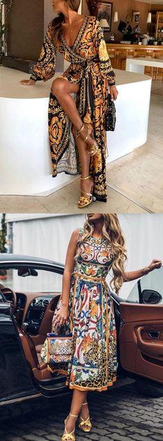 🛒Shop Now>>🌹 Beautiful Dresses for You. Buy 2 Get Coupon: Shecici. Fashion Moda, Boho Fashion, Fashion Outfits, Womens Fashion, African Fashion Dresses, African Dress, Vetement Fashion, Look Boho, Mode Chic