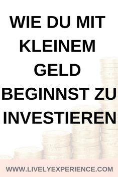 Wie Du mit kleinem Geld beginnst zu investieren Even with little money, you can start investing. Save Money On Groceries, Ways To Save Money, How To Make Money, Money Today, Earn Money From Home, Money Saving Challenge, Money Saving Tips, Money Background, Hacks